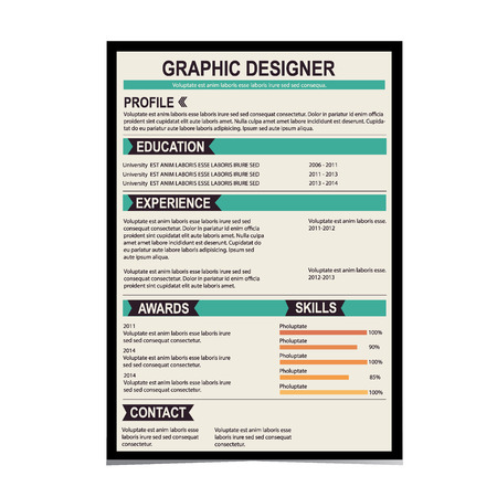 Resume template. Cv creative background. Vector illustration. Vector