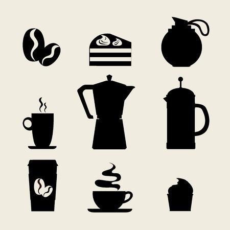 Coffee icon menu Vector