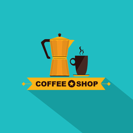 Coffee shop icon menu Vector