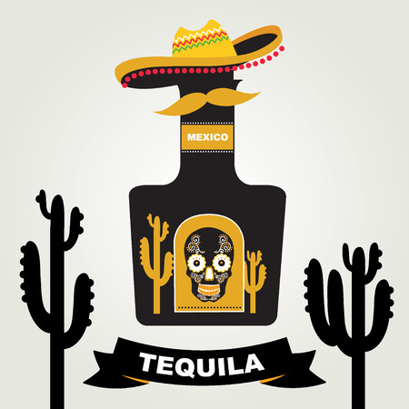 Tequila menu design