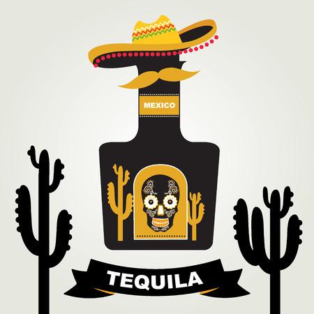 Tequila menu design Vector