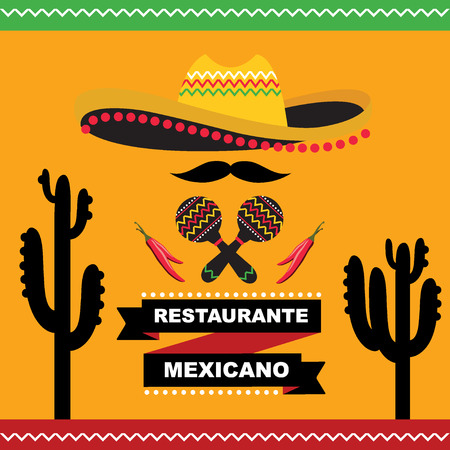 Cafe cover for menu mexican Illustration