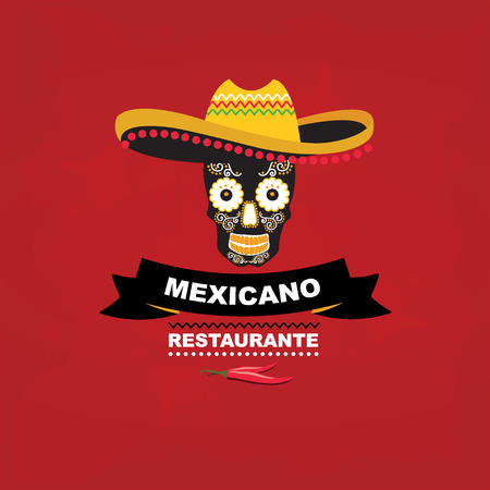 Menu mexican template design Vector