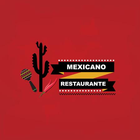 voedingsmiddelen: Menu Mexicaanse template design Stock Illustratie