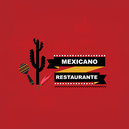 human icons: Menu mexican template design Illustration
