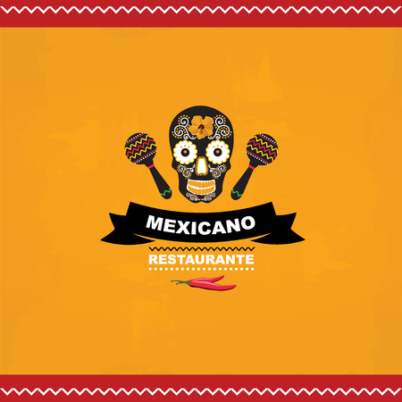 old bar: Menu mexican template design Illustration