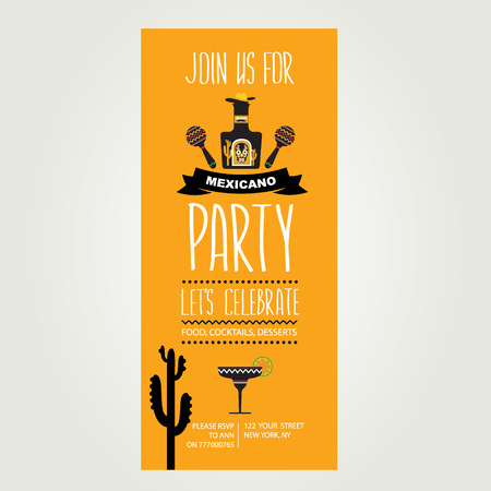 Invitation of Mexican party Vector