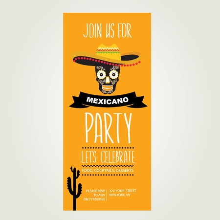 mexican party: Invitation of Mexican party