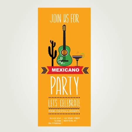 nighttime: Invitation of Mexican party