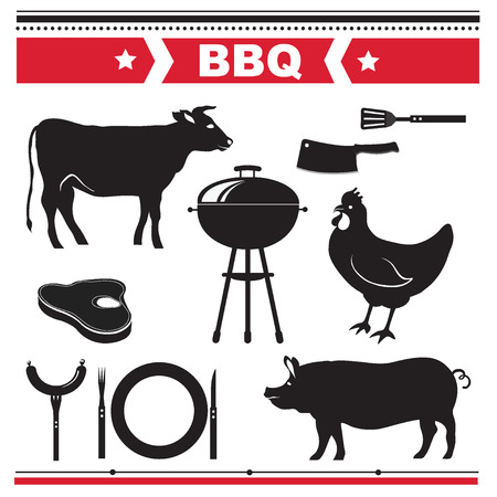 Barbecue design elements. Vector illustration. Vector