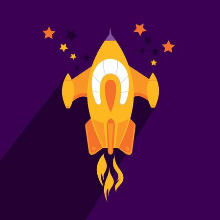 stabilizer: Rocket ship Flat icon.