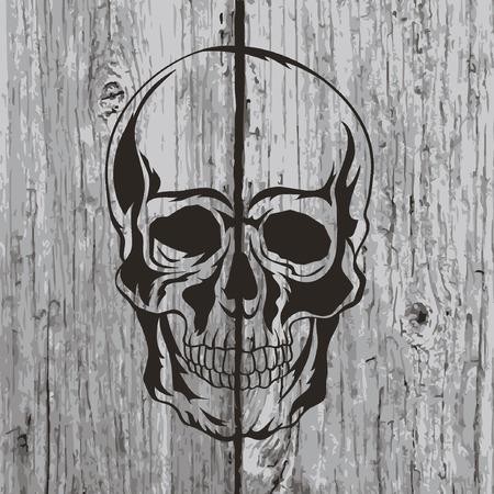 tatouage art: Illustration de cr�ne. T-shirt design. L'art du tatouage. Illustration