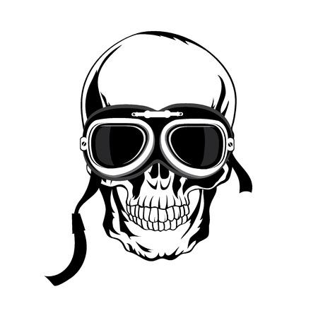 grunge skull: Skull illustration. T-shirt design. Tatoo art. Illustration