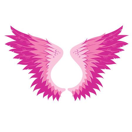 Wings, illustration. Vector