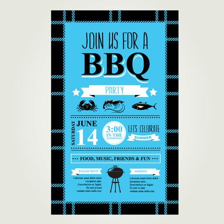 Barbecue-Party Einladung. Grillbroschüre Menü-Design. Standard-Bild - 29815724
