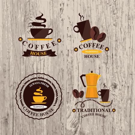 Coffee label, icon menu  Vector
