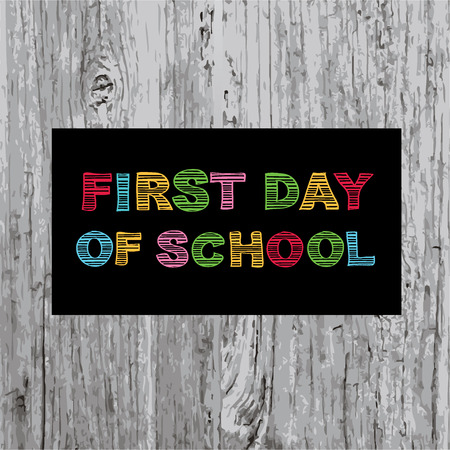first day of school: Back to school, poster design  Illustration