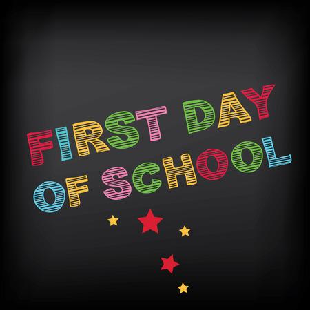 Back to school, poster design  Ilustrace