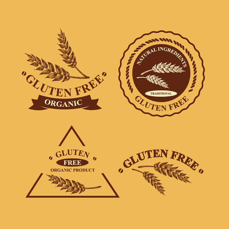 gluten: Gluten free and wheat labels.