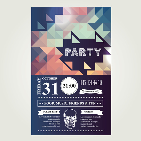 Uitnodiging disco party. Stock Illustratie