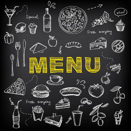 Restaurant cafe menu, template design. Vector
