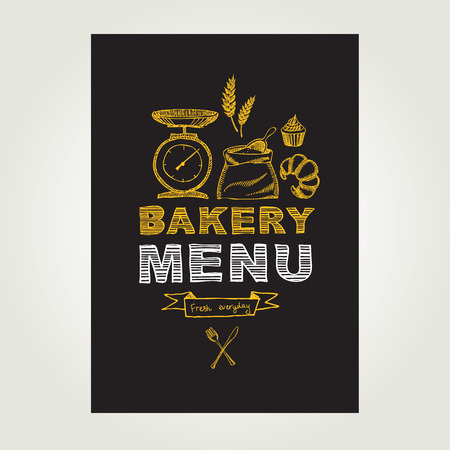 Restaurant menu Bakery and cafe.  Vector