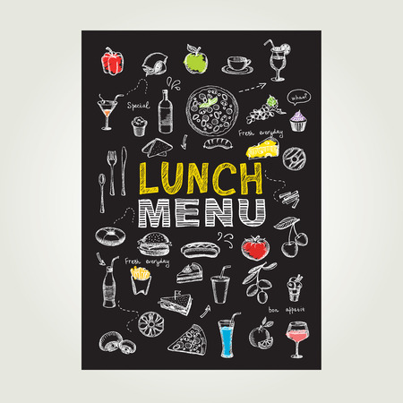 Restaurant cafe menu, template design. Vector