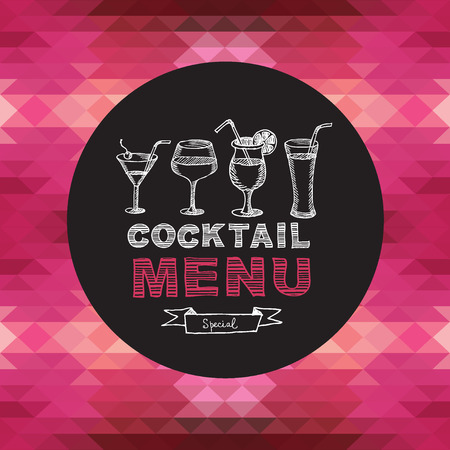 Cocktail bar menu, template design. Vector