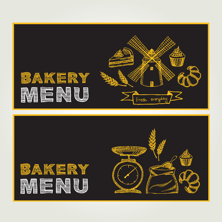 Restaurant menu for Bakery and cafe.  Vector