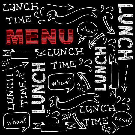 oude krant: Restaurant cafe menu, sjabloon ontwerp.