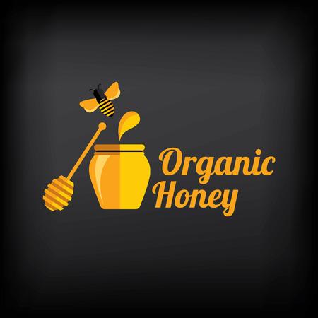 Honey badge,label. Abstract bee design. Vector