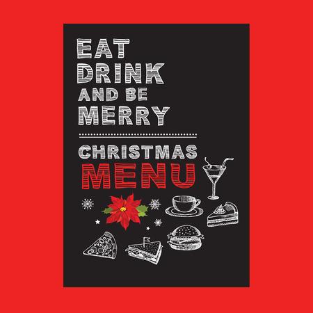 weihnachts restaurant und einem veranstaltungs menü, einladung, Einladungen