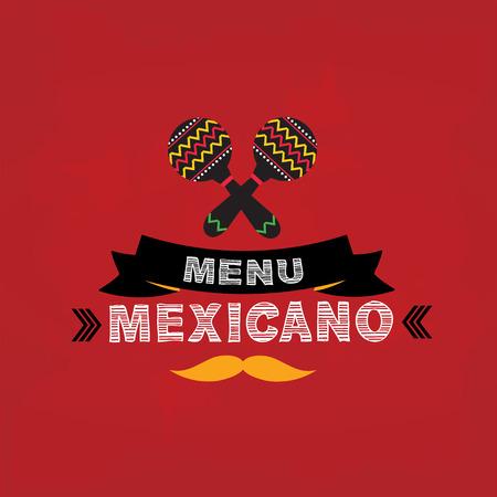 Menu mexican, template design.Vector illustration. Vector
