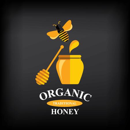 Honey badge,label. Abstract bee design.