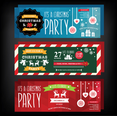 Invitation Merry Christmas. Vector illustration. Vector