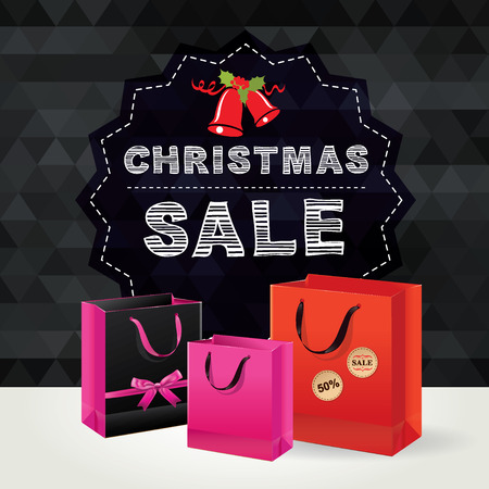 Christmas Poster Sale. Vector