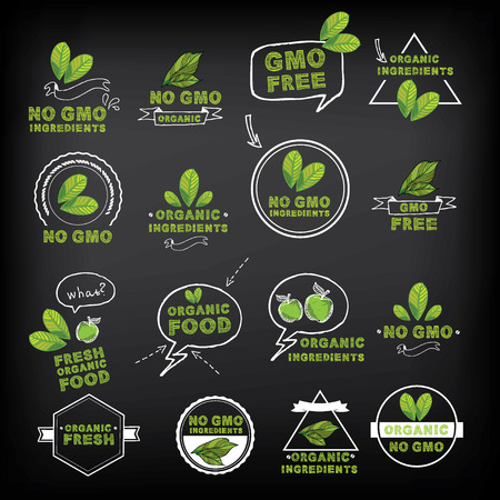 natural health: No gmo, vector icon.