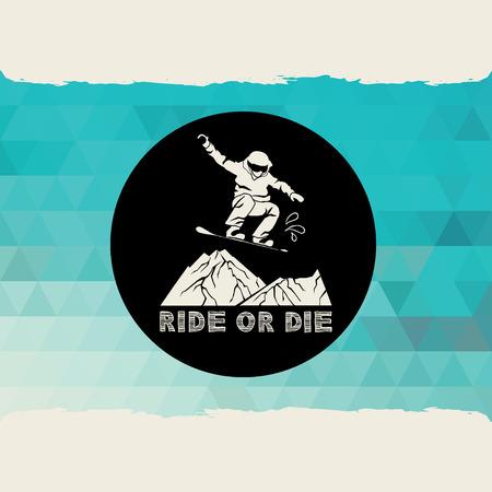 Snowboard icon design. Vector
