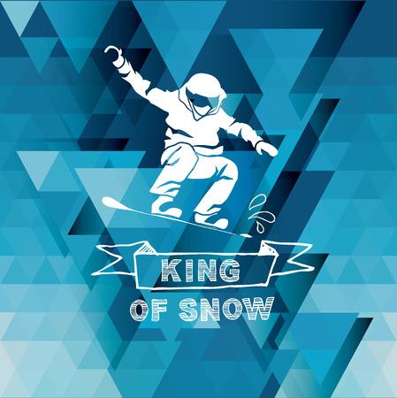 snowboarder: Snowboard icon design. Illustration