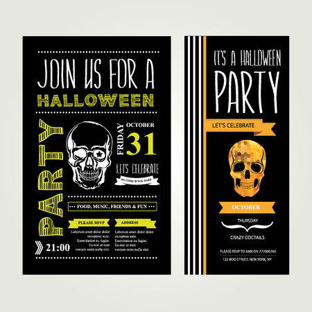party celebration: Invitation Halloween illustration.