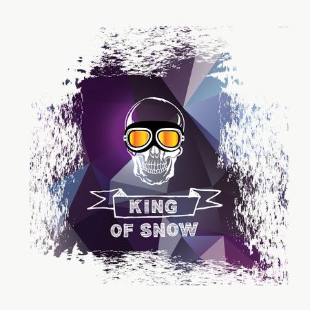 nordic ski: Snowboard icon design. Illustration