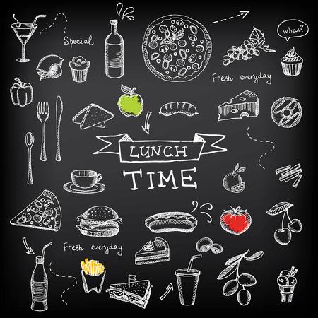 Restaurant cafe menu, template design.Vector illustration. Vector