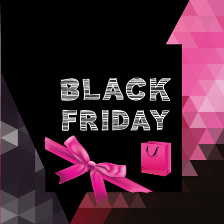 Black friday Poster Sale Typography illustration. Vector