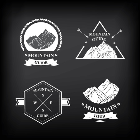 expedition: Set of expedition badges illustration.
