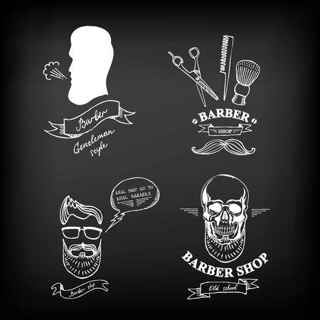 pole: Barber shop labels,vector icons. Illustration