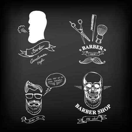 Barber shop labels,vector icons. Illustration
