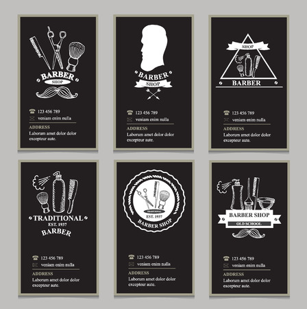 shave: Visiting card design barbershop.