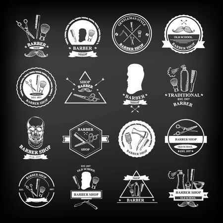 Barber shop labels,vector icons. Illustration