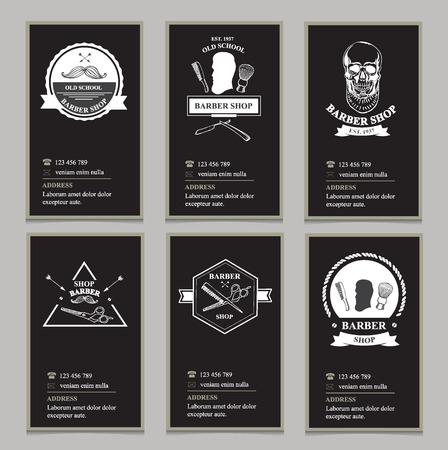 barbershop: Visiting card design barbershop.