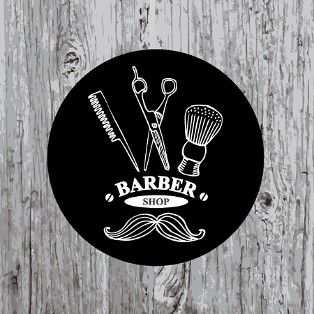 Barber shop label,vector icon. Illustration